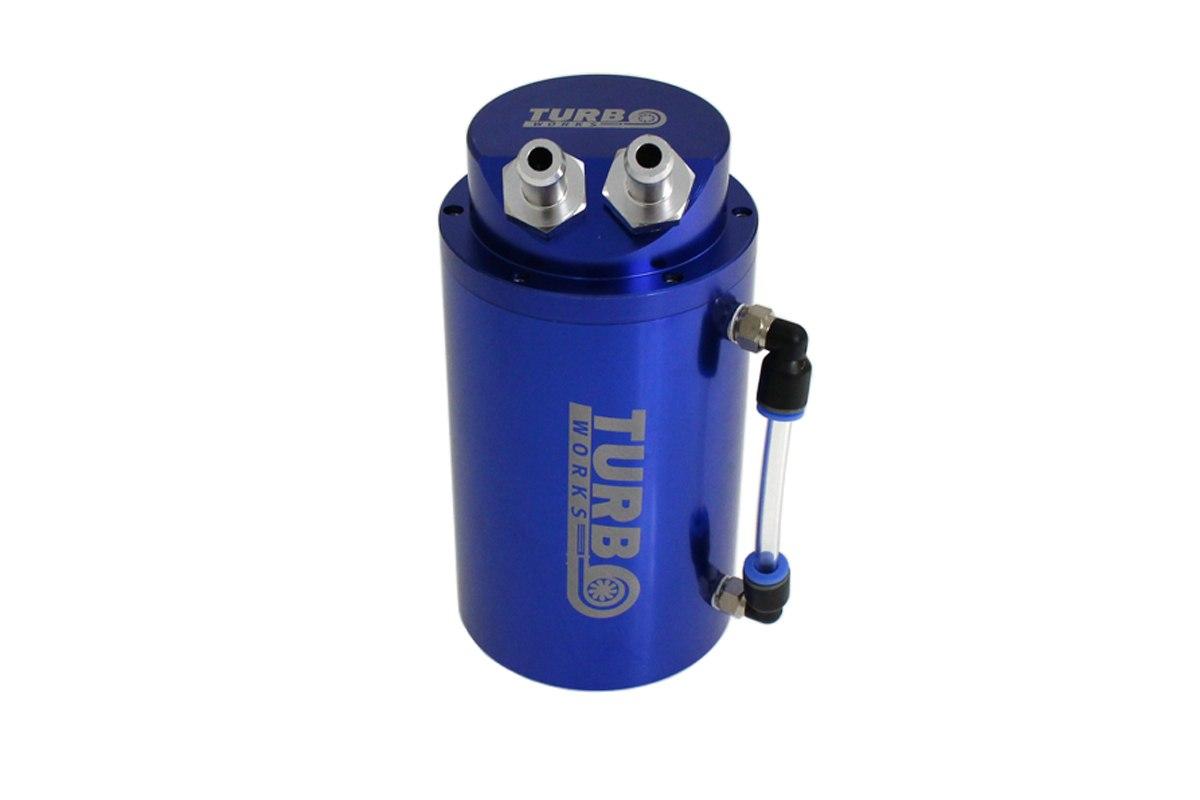 Oil catch tank 0.7L 10mm TurboWorks Blue - GRUBYGARAGE - Sklep Tuningowy